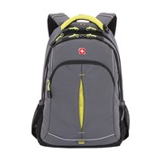 Рюкзак SWISSGEAR, серый/лаймовый, фьюжн/2 мм рипстоп, 32x15x46 см, 22 л