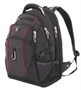 """Рюкзак SWISSGEAR, 15"""", чёрный/красный, полиэстер 900D/М2 добби, 34x23x48 см, 38 л"""