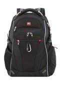 """Рюкзак SWISSGEAR, Scansmart 15"""", чёрный/красный, полиэстер 900D/добби, 34x22x46 см, 34 л"""