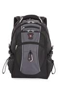 "Рюкзак SWISSGEAR, 15"", чёрный/серый, полиэстер 900D/420D/М2 добби, 34x23x48 см, 38 л"