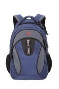 "Рюкзак SWISSGEAR, 13"", синий/серый, полиэстер, 35х15х46 см, 24 л"