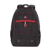 """Рюкзак SWISSGEAR, 15"""", черный/красный, полиэстер, 900D,  34х18x47 см, 29 л"""