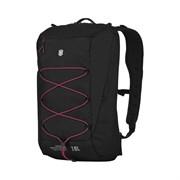 Рюкзак VICTORINOX Altmont Active L.W. Compact Backpack, чёрный, 100% нейлон, 28x17x44 см, 18 л