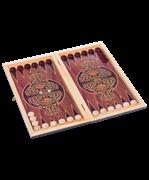 Нарды средние тонированные деревянные шашки
