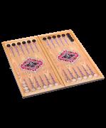 Нарды средние деревянные сувенирные,  Бухарские деревянные шашки