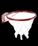 Кольцо баскетбольное d=380мм №5 с сеткой