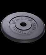 Диск обрезиненный, d=51 мм, черный, 15 кг
