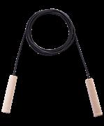 Скакалка резиновая с деревянной ручкой, длина 2.80 м.