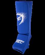 Защита голень-стопа SIC-6131, х/б, синяя