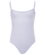 Купальник гимнастический на бретелях, хлопок, белый, р. 36-42