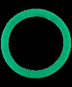Чехол для обруча без кармана D 750, зеленый