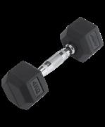 Гантель обрезиненная DB-301 4 кг, черная