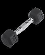 Гантель обрезиненная DB-301 2 кг, черная