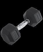 Гантель обрезиненная DB-301 10 кг, черная