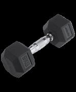 Гантель обрезиненная DB-301 9 кг, черная