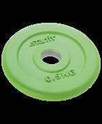 Диск обрезиненный BB-201, d=26 мм, зеленый, 0,5 кг