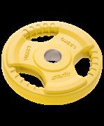 Диск обрезиненный BB-201, d=26 мм, желтый, 1,25 кг