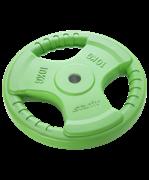 Диск обрезиненный BB-201, d=26 мм, зеленый, 10 кг