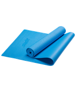 Коврик для йоги FM-101, PVC, 173x61x0,5 см, синий