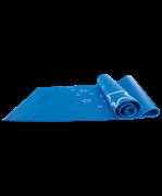 Коврик для йоги FM-102, PVC, 173x61x0,5 см, с рисунком, синий