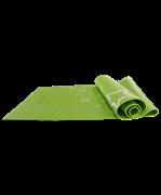 Коврик для йоги FM-102, PVC, 173x61x0,5 см, с рисунком, зеленый