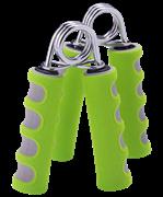 Эспандер кистевой STAR FIT ES-304 пружинный, эргономичный, мягкая ручка, зеленый/серый (2шт.)