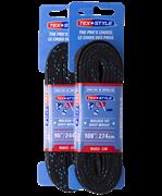 Шнурки для коньков Tex Style с пропиткой черные 2,74 м (пара) W918 1/36