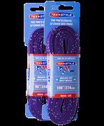 Шнурки для коньков Tex Style с пропиткой фиолетовые 2,44 м (пара) W923 1/36