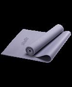 Коврик для йоги FM-101, PVC, 173x61x0,5 см, серый