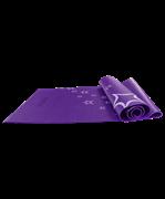 Коврик для йоги FM-102, PVC, 173x61x0,3 см, с рисунком, фиолетовый