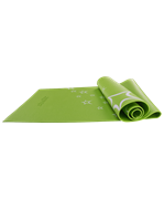 Коврик для йоги FM-102, PVC, 173x61x0,3 см, с рисунком, зеленый