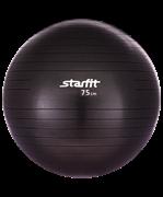 Мяч гимнастический GB-101 75 см, антивзрыв, черный