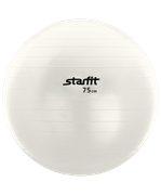 Мяч гимнастический GB-102 с насосом 75 см, антивзрыв, белый