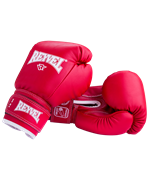 Перчатки боксерские RV-101, 6oz, к/з, красные
