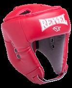 Шлем открытый RV-302, кожзам, красный