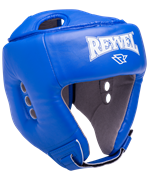 Шлем открытый RV-302, кожзам, синий
