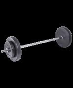 Штанга разборная BB-401, стальной гриф, пластиковые диски, 30 кг