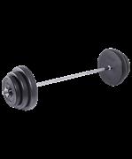 Штанга разборная BB-401, стальной гриф, пластиковые диски, 40 кг