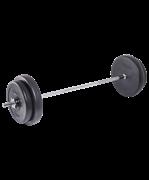 Штанга разборная BB-401, стальной гриф, пластиковые диски, 35 кг