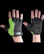 Перчатки для фитнеса SU-108, зеленые/черные