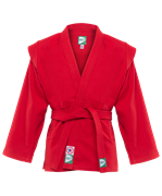 Куртка для самбо JS-302, красная, р.2/150
