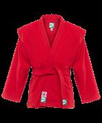 Куртка для самбо JS-302, красная, р.00/120