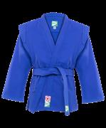 Куртка для самбо JS-302, синяя, р.4/170