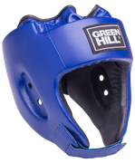 Шлем открытый Alfa HGA-4014, кожзам, синий