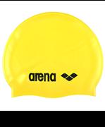 Шапочка для плавания Classic Silicone Cap yellow/black, силиконовая, 91662 35