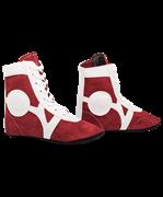 Обувь для самбо SM-0101, замша, красная