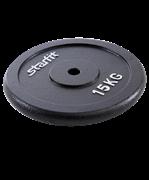 Диск чугунный BB-204 15 кг, d=26 мм, черный