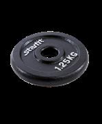 Диск чугунный BB-204 1,25 кг, d=26 мм, черный