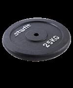 Диск чугунный BB-204 25 кг, d=26 мм, черный
