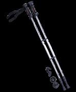 Палки для скандинавской ходьбы Longway, 77-135 см, 2-секционные, серый/чёрный